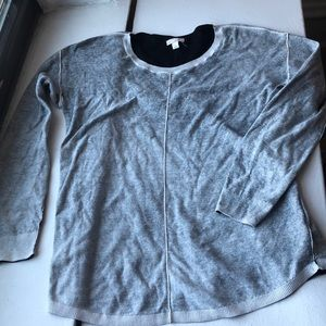 Gap long sleeve inside out top s
